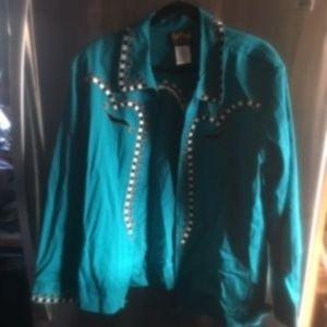 Bob Mackie Western Embroidered Jacket (2x)